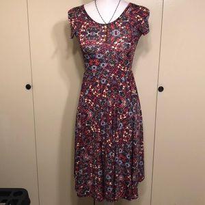 Lularoe Girls flowered dress-Size 12/14